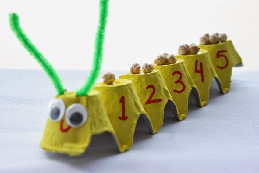 Gusanito numérico con huevera10