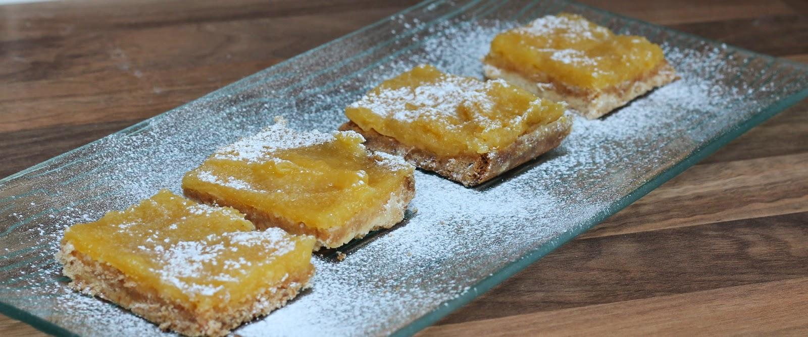 Brown butter shortbread lemon bars