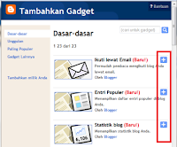 Add Gadget Blogger Free