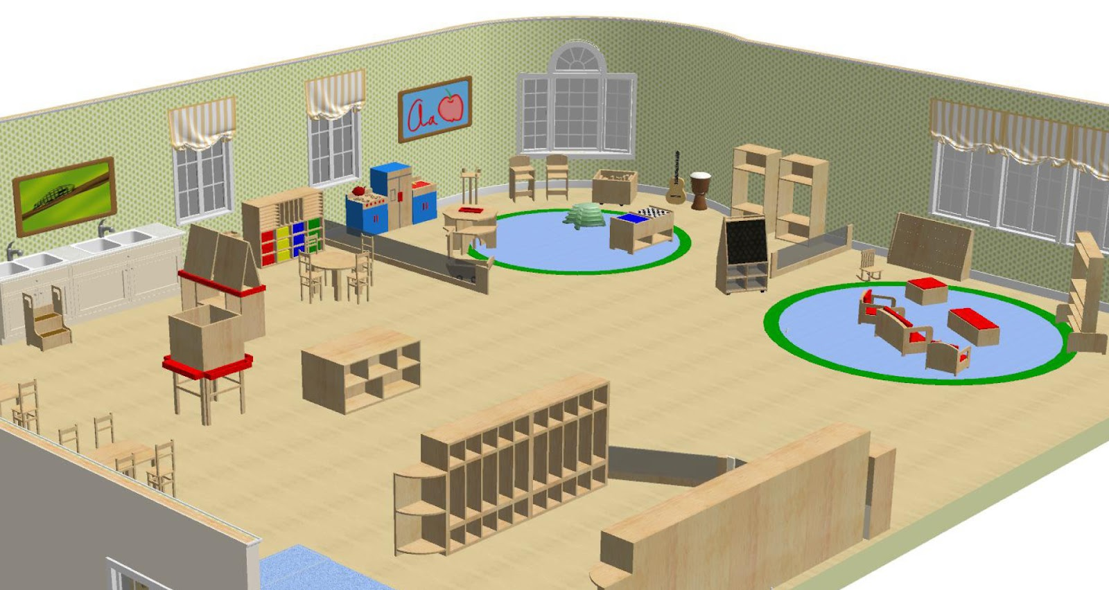 Classroom Design In Preschool ~ Wood designs