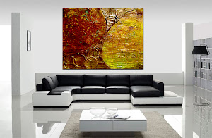 "Abstract Painting ""Tuscany"" by Dora Woodrum"