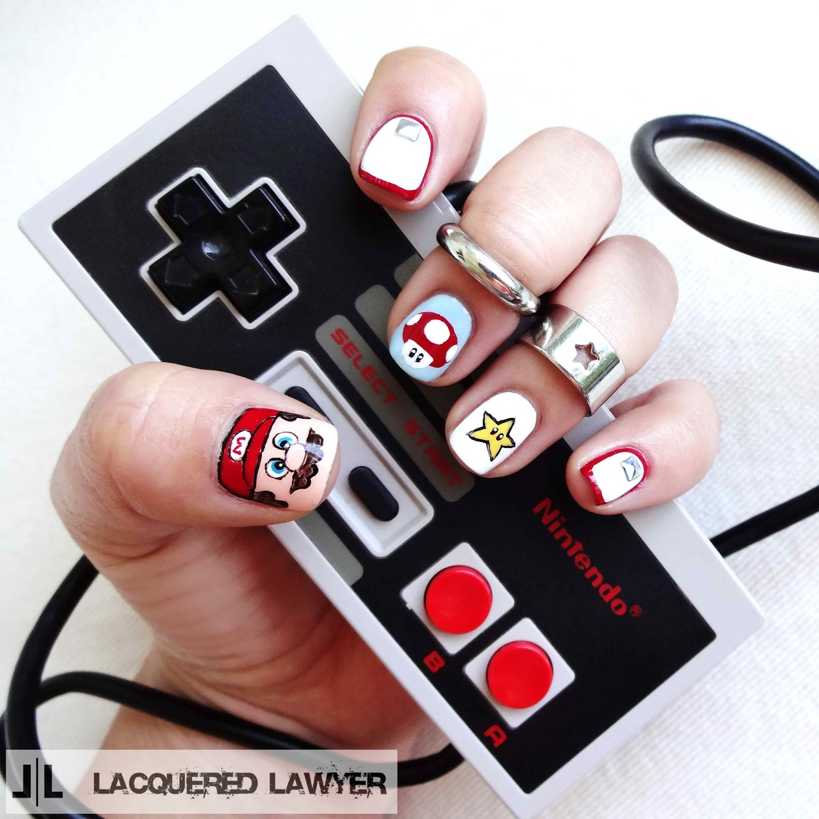 Super Mario Brothers Nail Art
