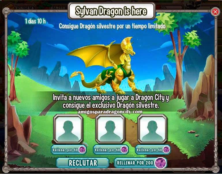 imagen del dragon silvestre gratis en dragon city