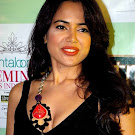 Sameera Reddy in Black Dress & Dark Lips  Pics