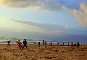 kuta soccer beach