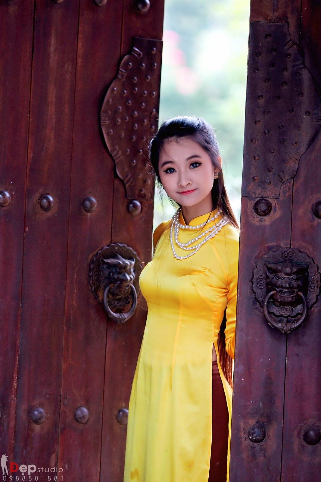 Ảnh đẹp girl xinh Áo dài truyền thống Việt Nam - Ảnh 21