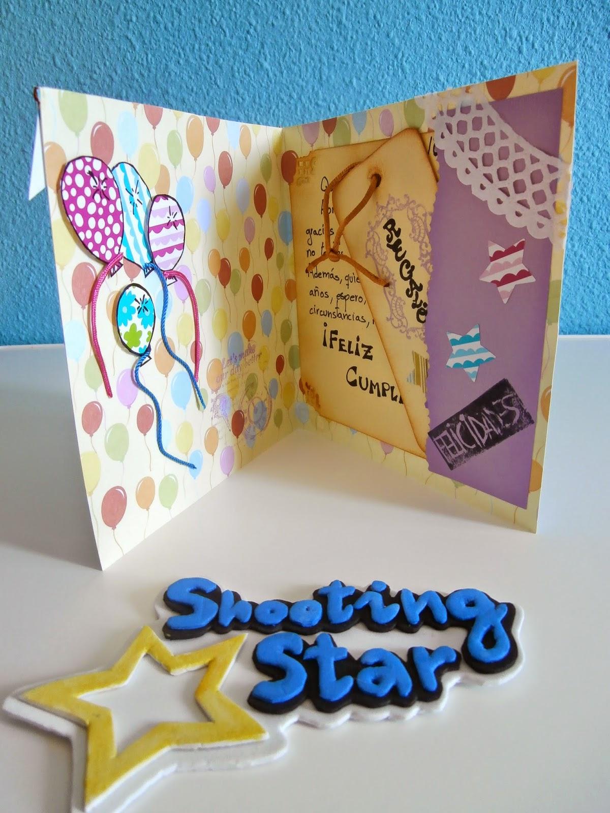 tarjeta scrap cumpleaños