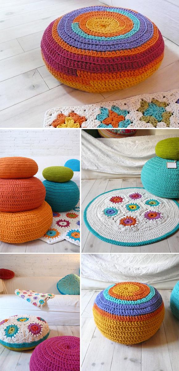 Fundas para puf de ganchillo crochet quitaquitamerikita - Puff de ikea ...
