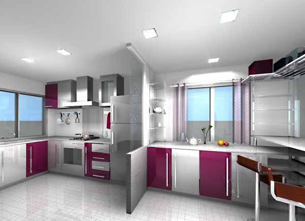 Puntos de luz en la iluminaci n de cocinas ideas para - Iluminacion para cocina comedor ...