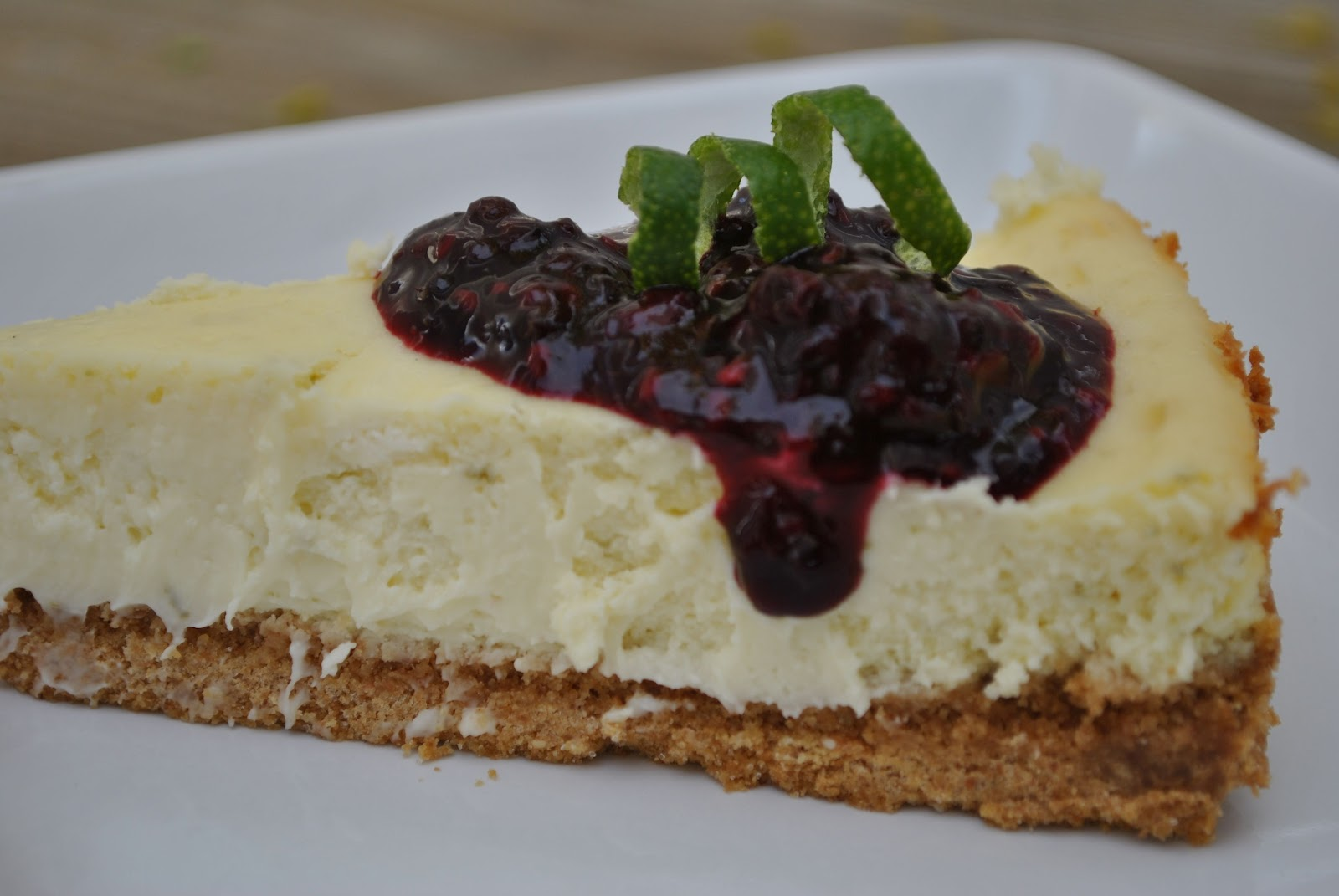 Lime Cheesecake With Blackberry Sauce Recipes — Dishmaps