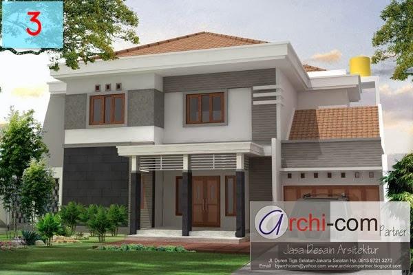 desain rumah, rumah limasan, rumah dua lantai