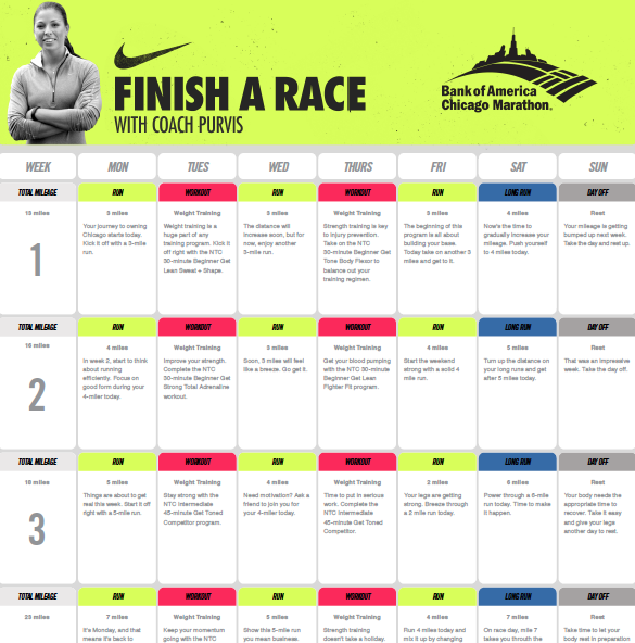Nike/BoA training plan