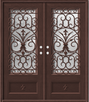 ... that extends through the whole door shielding the inside of the single or double wrought iron door from the colder temperatures outside.  We basically ...  sc 1 st  Premium Iron Doors - Blogger & Premium Iron Doors: WROUGHT IRON DOUBLE DOORS WITH THERMAL BREAK