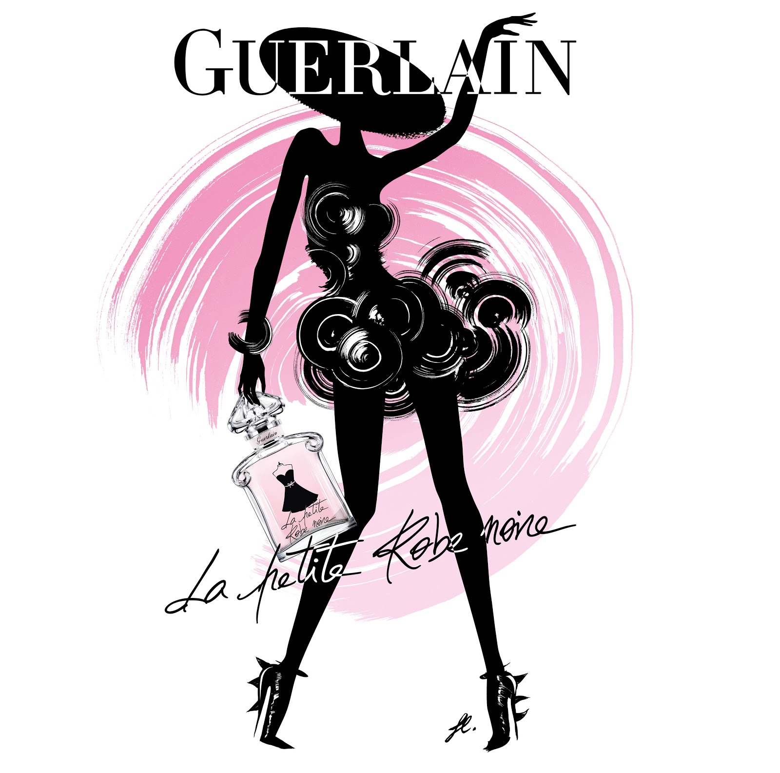 illustration brand building guerlain la petite robe noire illustrators olivier kuntzel. Black Bedroom Furniture Sets. Home Design Ideas