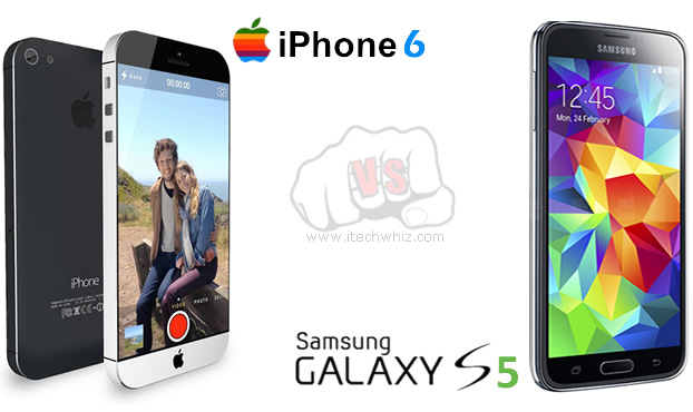 iPhone 6 vs Galaxy S5 Specs: Design, Display, Camera, Battery, Price