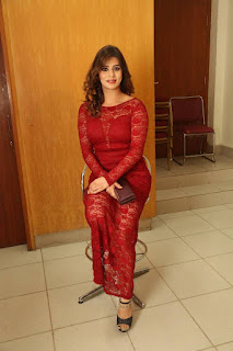 Nandini Gupta  Stills in Red Lace Dress at Shourya Movie Audio Launch ~ Celebs Next