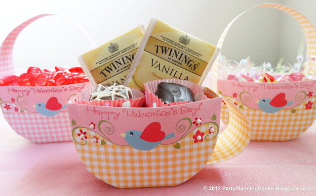 Cute Free Printable Valentine´s Basket.