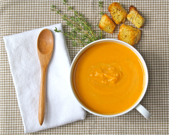 Sweet potato bisque (Secret Recipe Club) | Yankee Kitchen Ninja