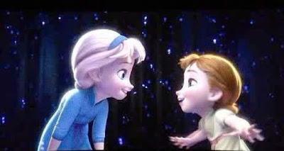Gambar Anna dan Elsa Frozen Waktu Kecil