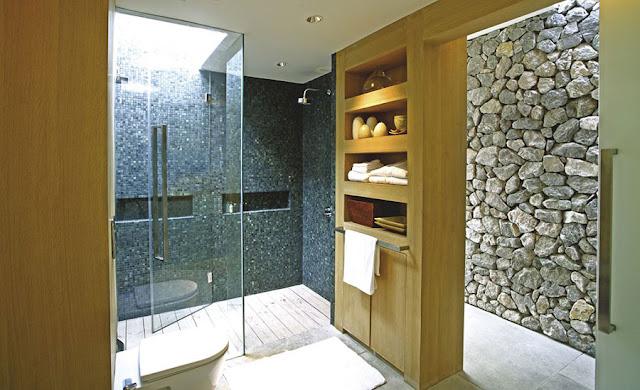 Interiores con piedras paredes ambientes gu a y - Paredes interiores de piedra ...