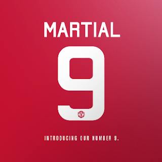 Martial Jersey Number 9