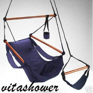 Navy Blue Sky Hanging Air Chair - Hammock Swing