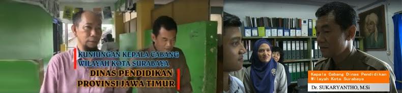Kunjungan Kepala Cabang Wilayah Kota Surabaya Dinas Pendidikan Provinsi Jawa Timur