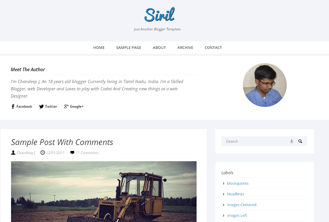 Siril Responsive Blogger Template