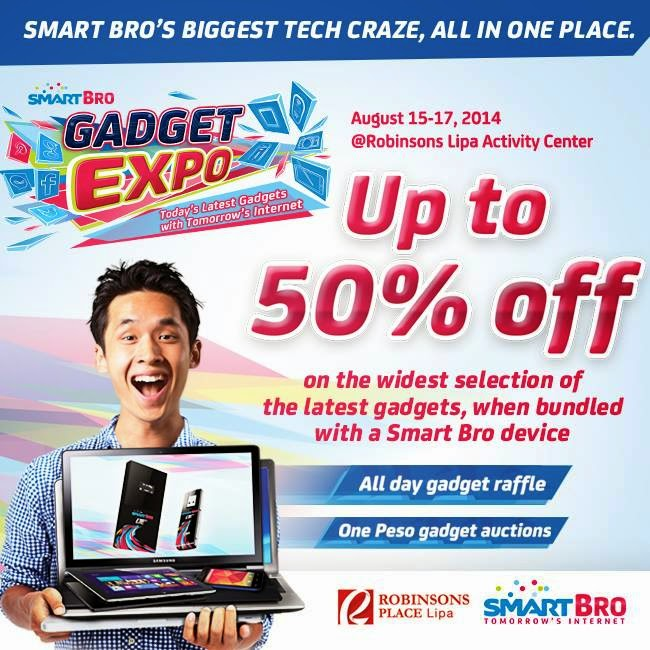 Smart Bro Gatget Expo at Robinsons Lipa, Batangas