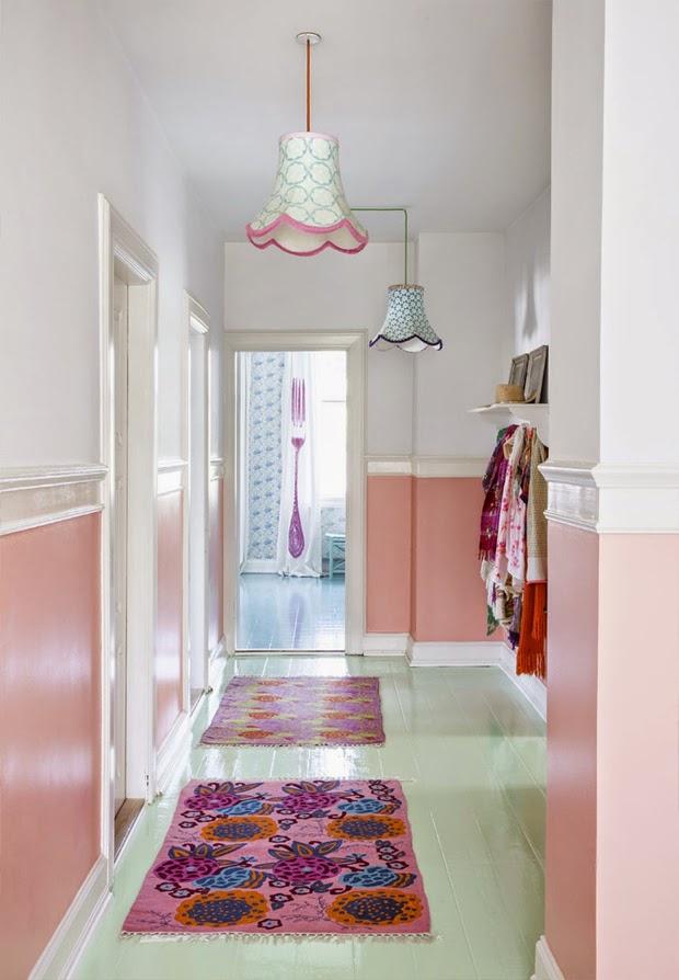 pink patern rugs