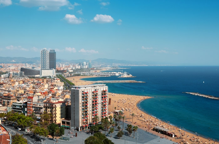 Barcelona Spain  city photo : Beach in Barcelona Spain « FREE WALLPAPERS