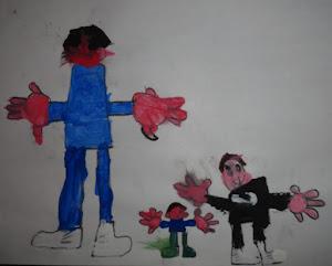 Dibujamos figura humana y diferenciamos tamaños...