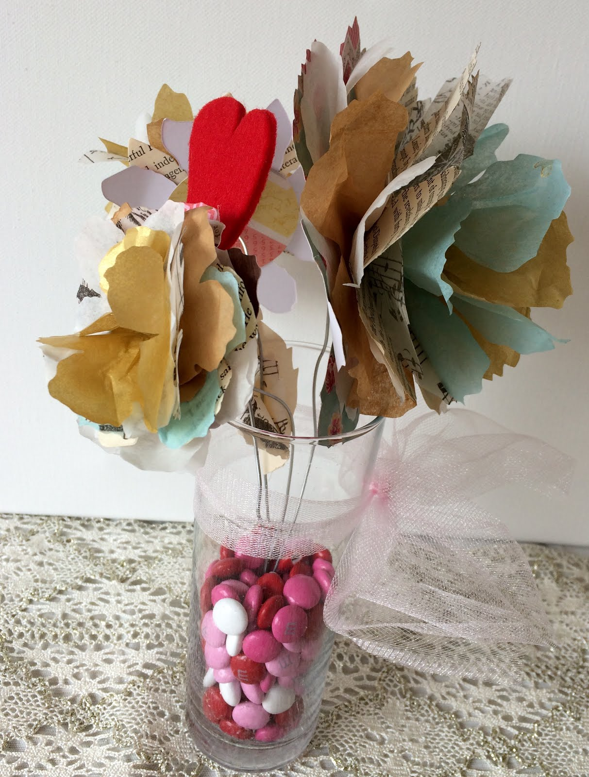 Its Raining Jellybeans Paper Flower Vase