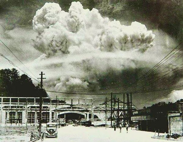 Rarest Historical Photos, That you can Never Forget. - Picture of Nagasaki, only 20 minutes after the atomic bombing in the year 1945