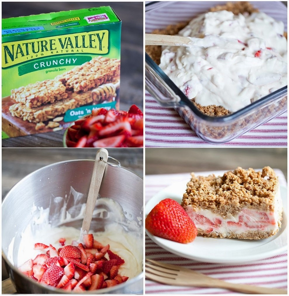 Easy Frozen Strawberry Crunch Cake