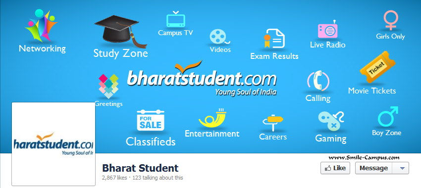 Facebook Fan Page of BharatStudent.com