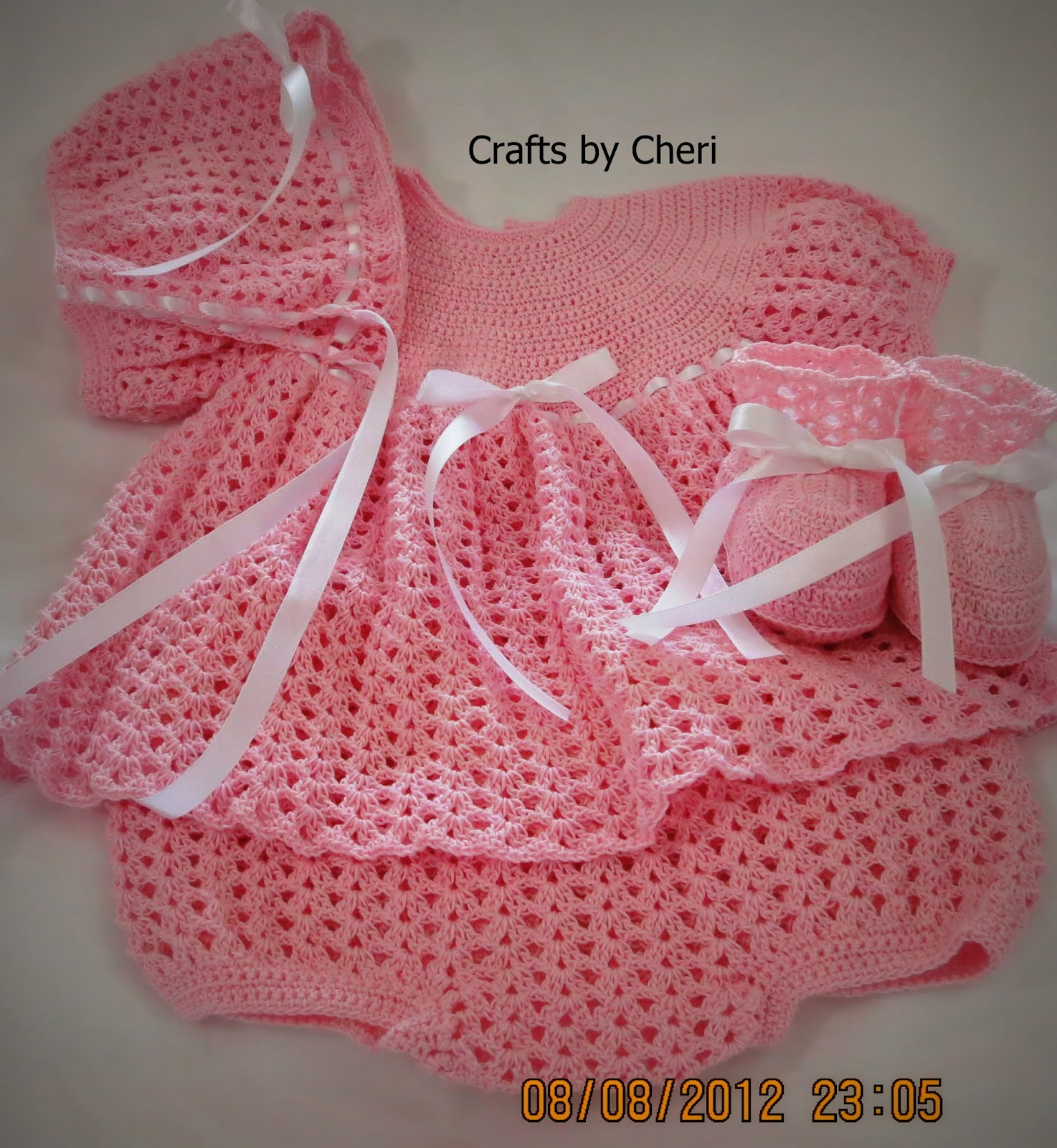 Crochet Baby Outfit Pattern : Cheris Crochet Baby or reborn baby doll clothing or ...