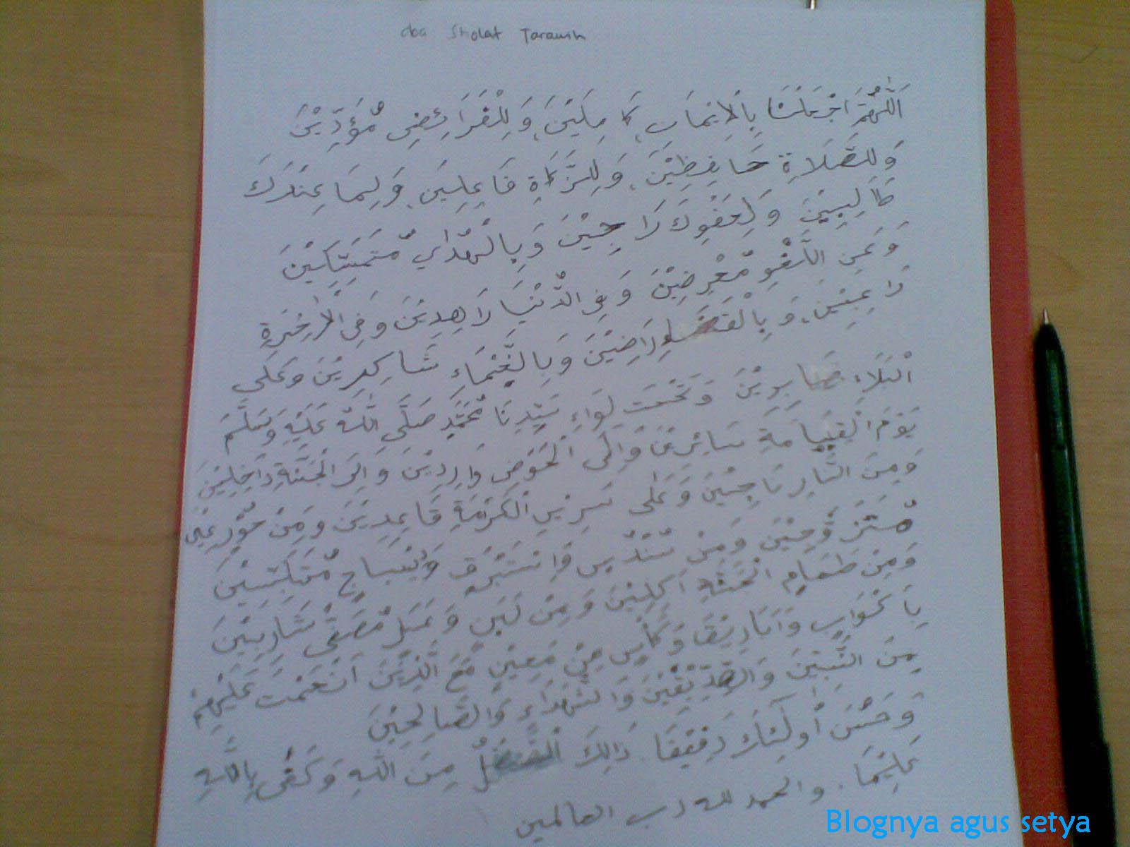 Doa Sholat Tarawih Akhir Ramadhan Malam Hari