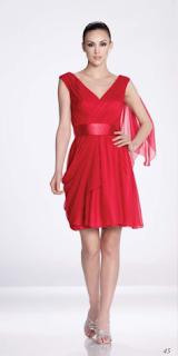 vestido rojo corto Katy