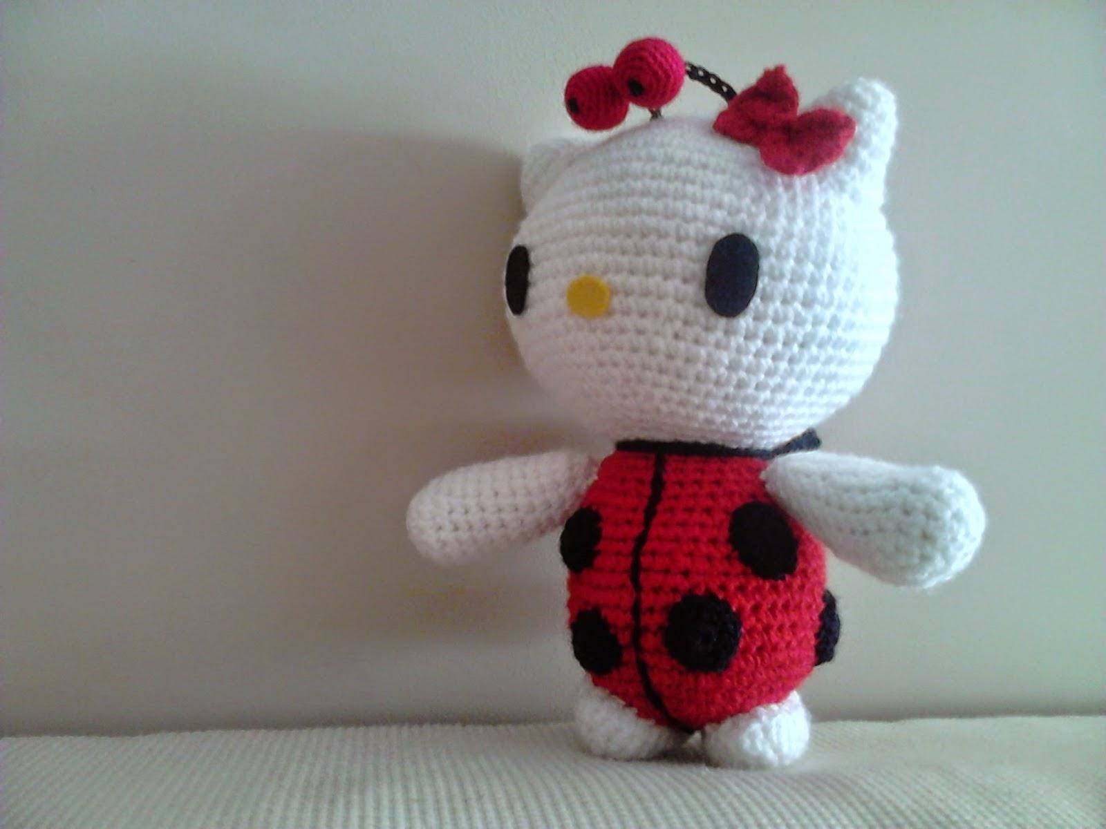 Kitty Mariquita Amigurumi : CANAL CROCHET: Hello kitty mariquita
