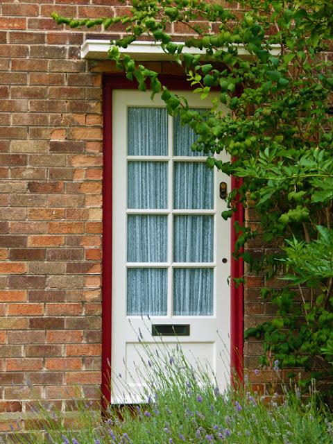 Forthlin Road, front door, lavender
