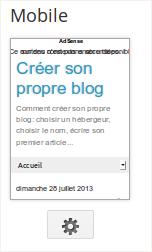 Blogger modèle mobile