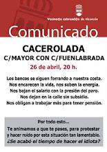 Cacerolada en Alcorcón