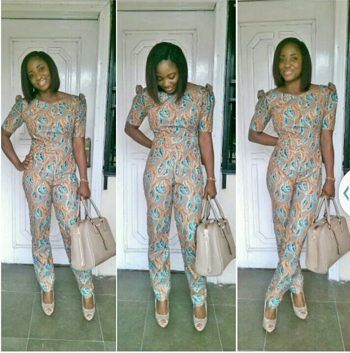 CHECHESMITHNATION African Print Jumpsuit