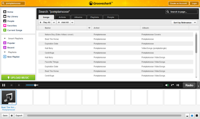 grooveshark, free music online, screenshot, any song
