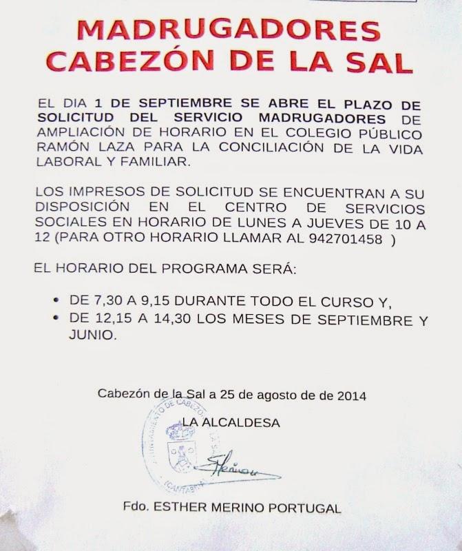 tablón de anuncios de cabezón de la sal: agosto 2014