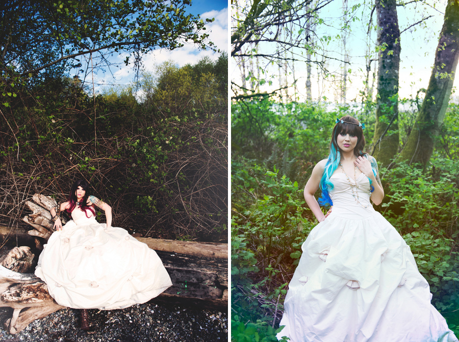 alternative bride, rocker bride, offbeat bride