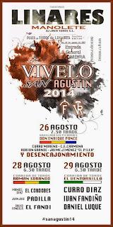 Linares - Feria de San Agustín 2014 - Cartel Taurino