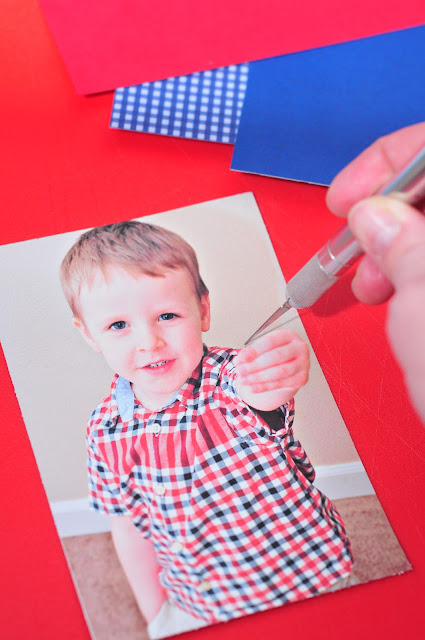 Making Valentines day photo cards