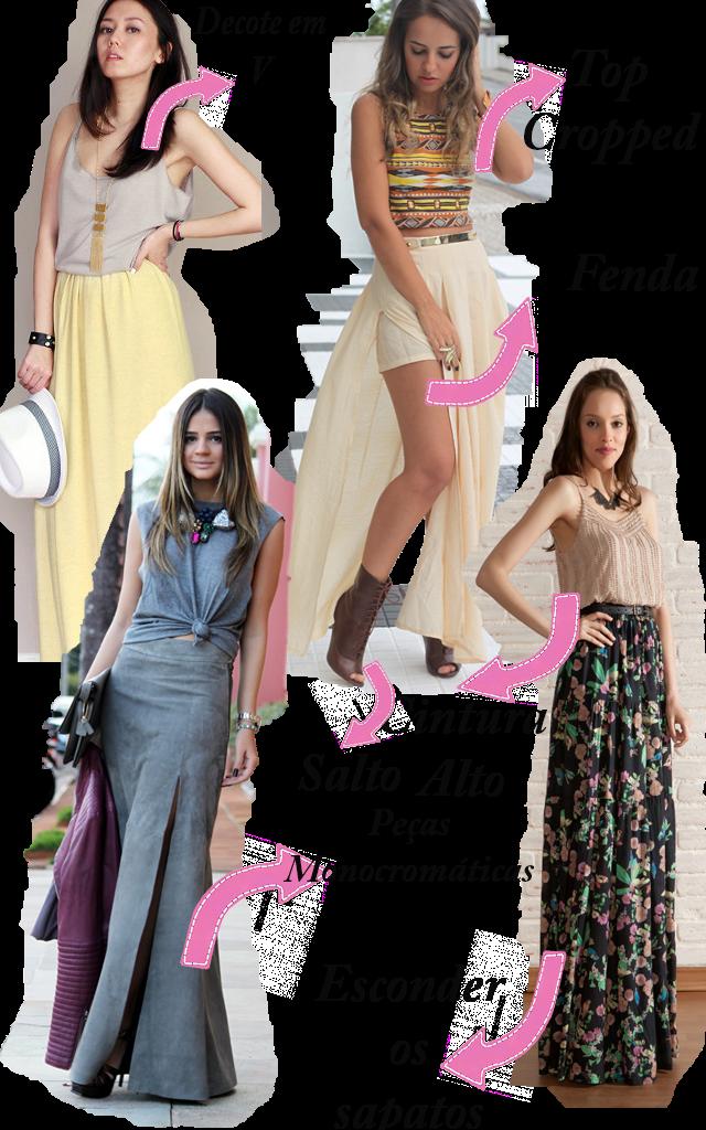 5 dicas para usar saia longa sendo baixinha